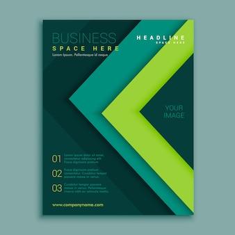 Modèle de conception d'affiche de prospectus géométriques verts