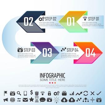 Modèle de conception d'infographie de flèche