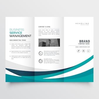 Modèle de conception de brochure à créatures triples créatives