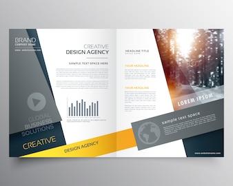 Modèle de conception de brochure bifold moderne ou conception de page de couverture de magazine
