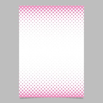 Modèle de conception de brochure de motif en forme de demi-teinte abstraite simple - illustration de fond de document vectoriel avec motif de cercle