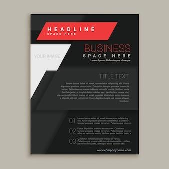 Modèle de conception de brochure vectorielle noire