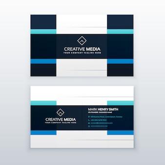 Modèle de conception de carte de visite vectoriel bleu en style propre