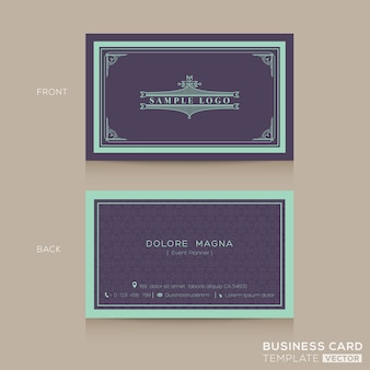 Modèle de conception de carte de visite vintage vintage classique