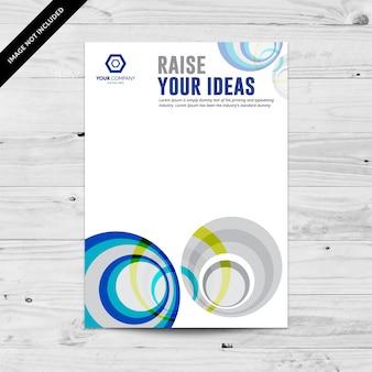 Modèle de conception de flyer abstrait bleu et gris