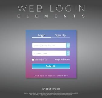 Modèle de connexion Web avec design violet