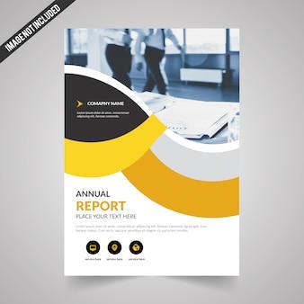 Modèle de flyer de vecteur d'entreprise avec jaune