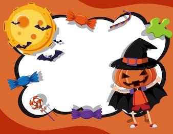 Modèle de frontière avec le thème de l'halloween