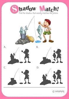 Modèle de jeu avec photo correspondante
