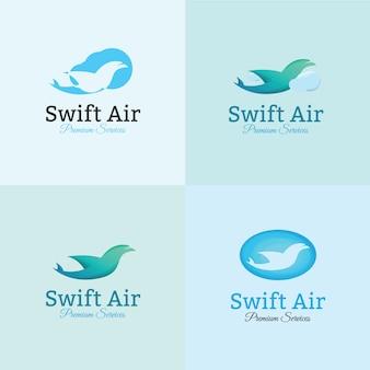 Modèle de logo aérien