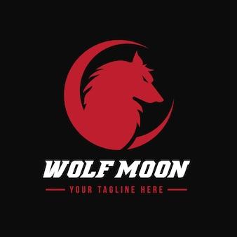 Modèle de logo de loup