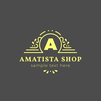 Modèle de logo de magasin de luxe