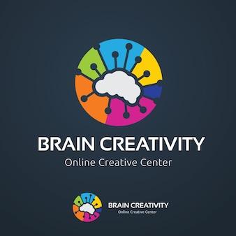 Modèle de logo du cerveau