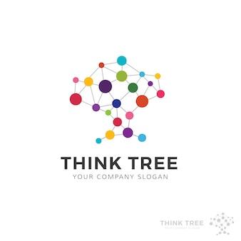 Modèle de logo Think Tree