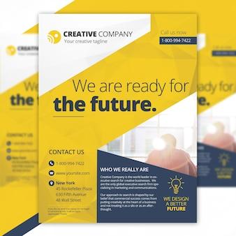 Modèle de prospectus d'entreprise créatif