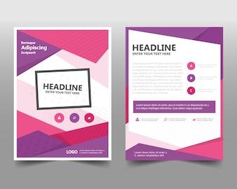 Modèle de rapport annuel créatif rose