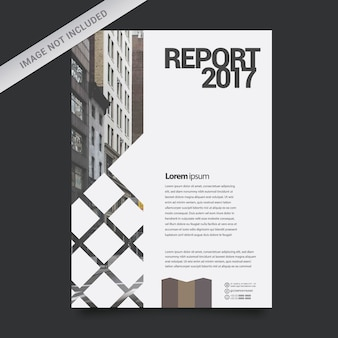 Modèle de rapport d'affaires géométrique