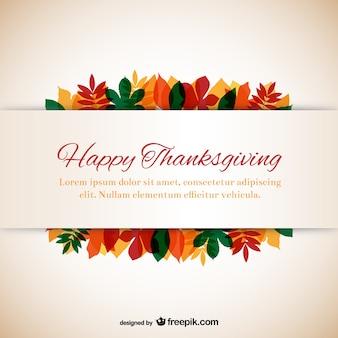 Modèle de Thanksgiving avec des feuilles