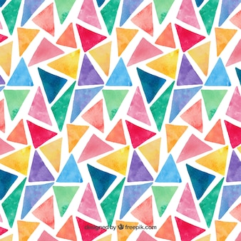 Modèle de triangles d'aquarelle coloré