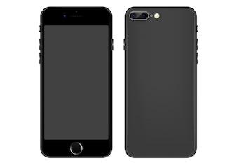 Modèle de vecteur gris pour téléphone portable