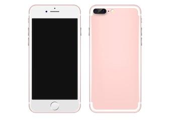Modèle de vecteur rose pour téléphone mobile