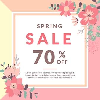 Modèle de vente au printemps avec fleur