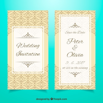 Modèle élégant d'invitation de mariage