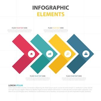 Modèle infographique commercial triangulaire abstrait coloré