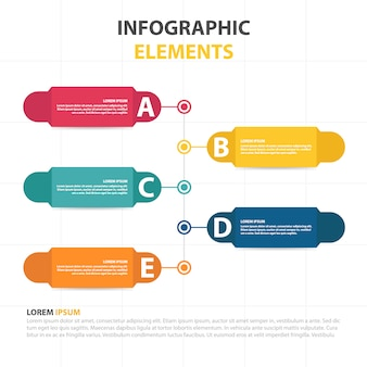 Modèle infographique de business abstract cloud coloré