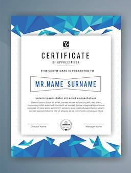 Modèle moderne de certificat de réussite
