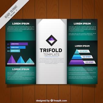 Modèle Trifold avec des détails violets