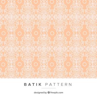 Modèle vintage avec des fleurs en style batik