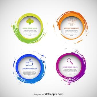 Modèles circulaires paquet