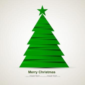 Moderne arbre de Noël vert