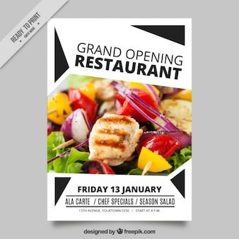 Moderne brochure d'ouverture du restaurant