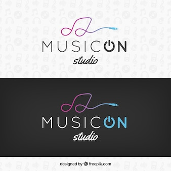 Moderne logo modèle musical