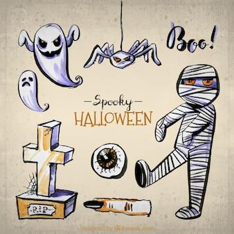 Momie Creepy et d'autres articles de halloween