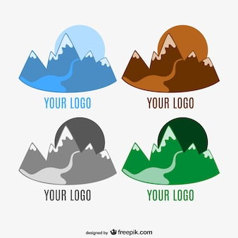 Montagne logo modèle