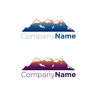 Montagnes paquet de logo