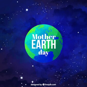 Mother earth day background peint à l'aquarelle