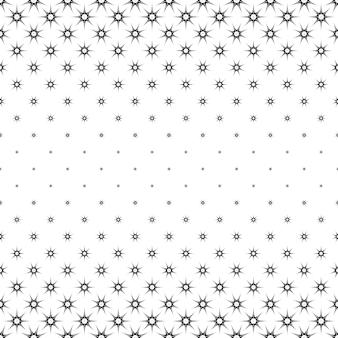 Motif d'étoile monochrome - graphique d'arrière-plan