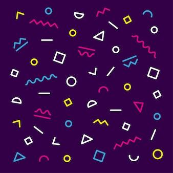 Motif de memphis coloré