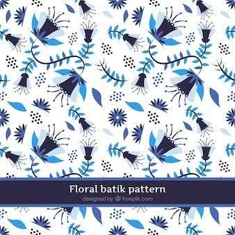Motif fleur bleue