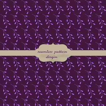 Motif floral avec fond violet