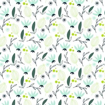 Motif floral frais