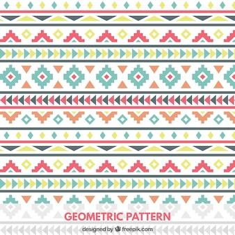 Motif géométrique coloré en style tribal