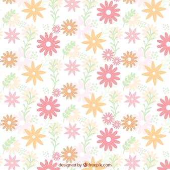 Motif plat de fleurs mignons dans des couleurs pastel
