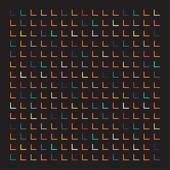 Motif rectangulaire coloré sur fond noir