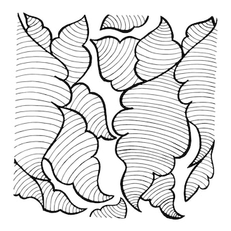 Motifs simples en noir et blanc