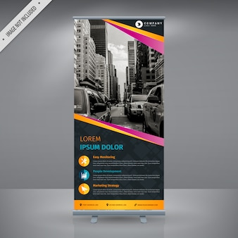 Multicolor roll up banner